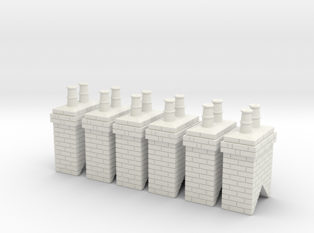 Chimney Stack - Small Type 1 X 6 - OO Scale