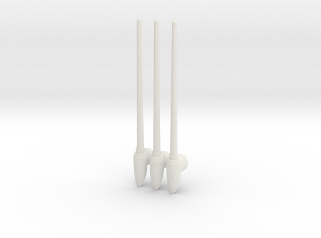 Macross VF-0S/0A Antenna in White Strong & Flexible