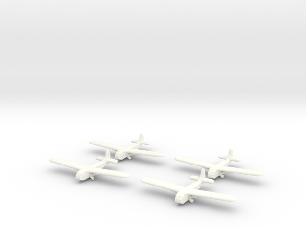 Waco Glider -1/700-(x4) in White Processed Versatile Plastic