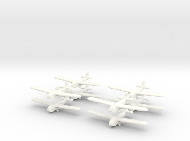 Waco Glider -GW39- (x8) in White Strong & Flexible Polished