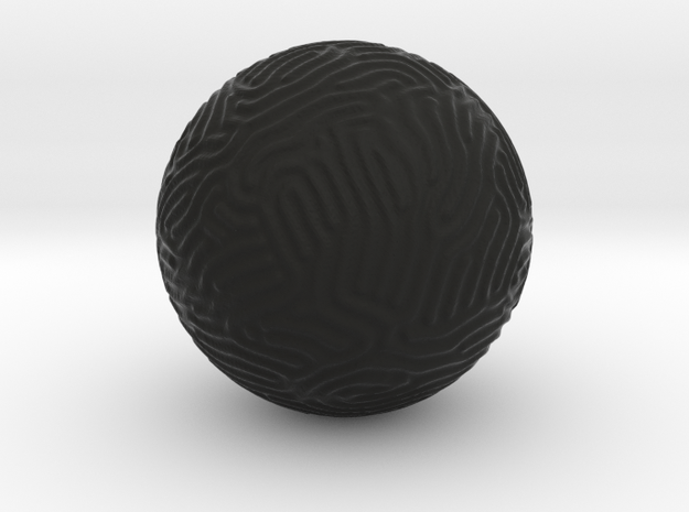 Reaction-Diffusion Sphere, segs=75 3d printed