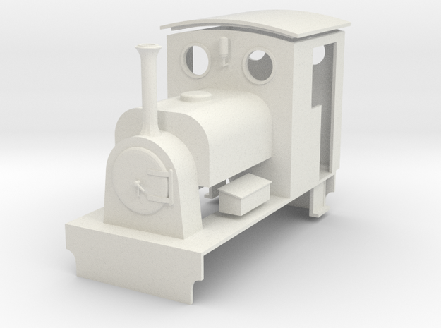 """O-16.5 """"Quintina"""" Manning Wardle 0-4-0ST Body in White Natural Versatile Plastic"""