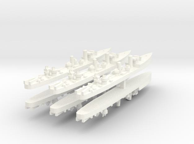 Admiralty S Destroyer (SRE) 1:1800 x6 in White Processed Versatile Plastic