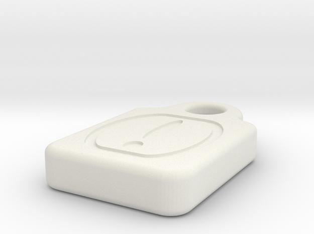 MicroSD!Mark in White Natural Versatile Plastic