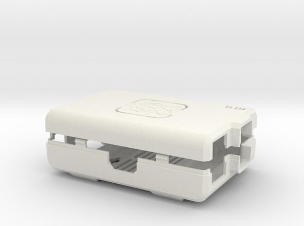 Raspberry Pi CASE 1.0 in White Natural Versatile Plastic