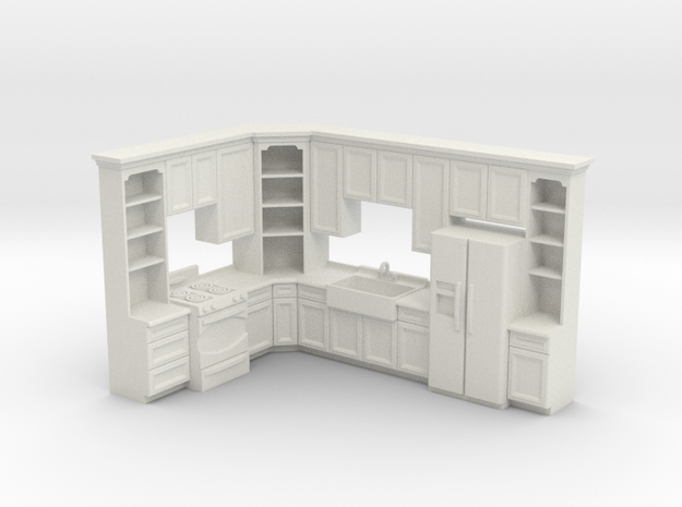 1:48 Farmhouse Kitchen C in White Natural Versatile Plastic