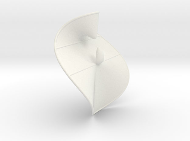 Cubic Surface KM 25 in White Natural Versatile Plastic