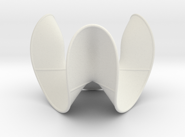 Cubic Surface KM 17 in White Natural Versatile Plastic