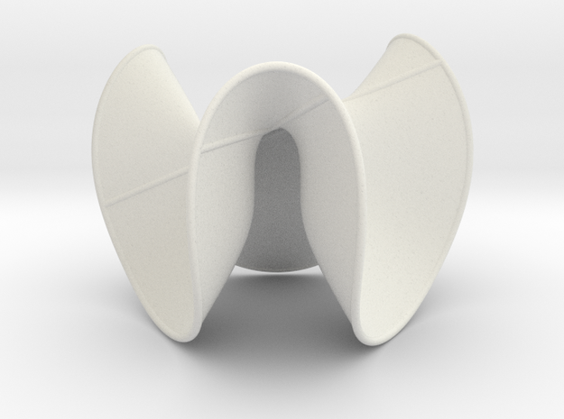 Cubic Surface KM 16 in White Natural Versatile Plastic