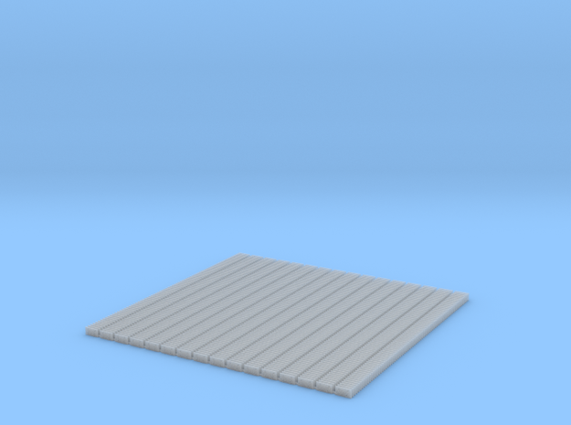 5 Hole Tie Plates - 1200 O scale in Smooth Fine Detail Plastic