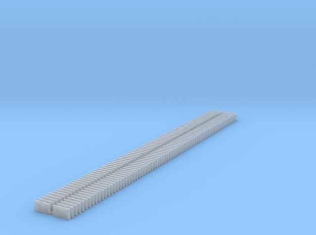 4 Hole TiePlate for Code 125 - 150 in Smooth Fine Detail Plastic