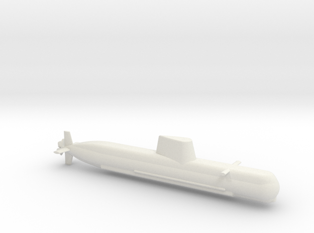 1/700 Son Won-Il (Type 214) Class Submarine in White Natural Versatile Plastic