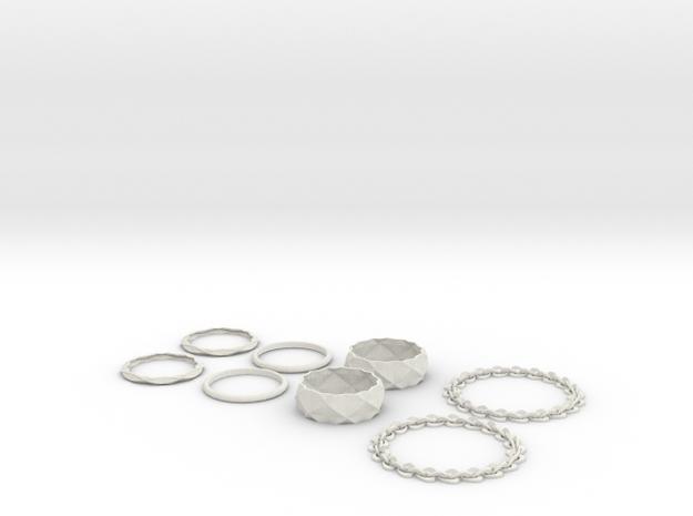 nest of bracelets 3d printed