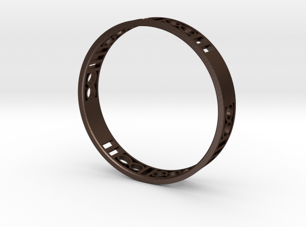 Binary Heart Bracelet 3d printed