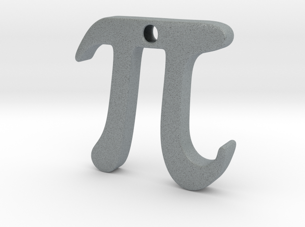 Pi 3d printed Pi in Silver
