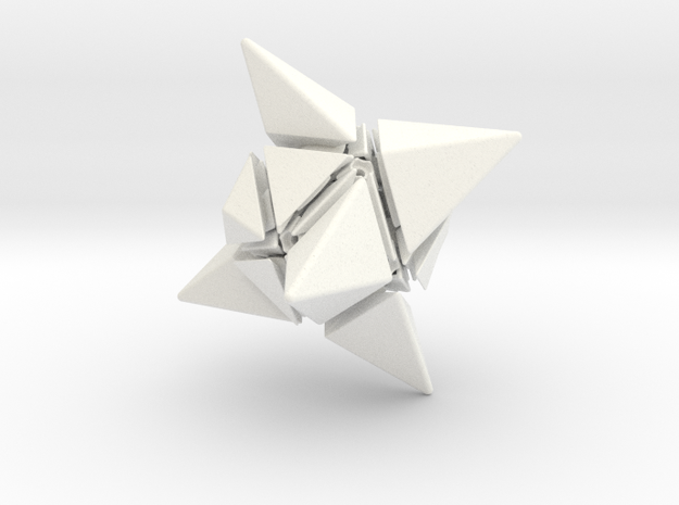 Twin TriTangle Puzzle 3d printed