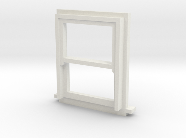 900 X 1200 Sash Window 4mm Scale in White Natural Versatile Plastic