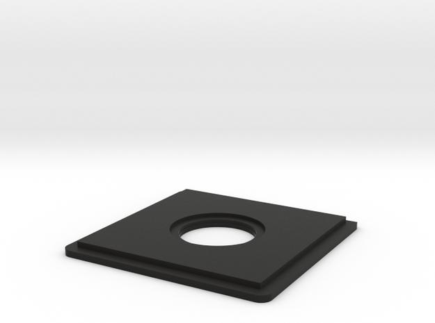 Lensboard for MPP MK VIII 4x5 view camera in Black Natural Versatile Plastic