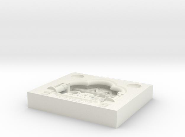 BSA Device Diarama in White Natural Versatile Plastic