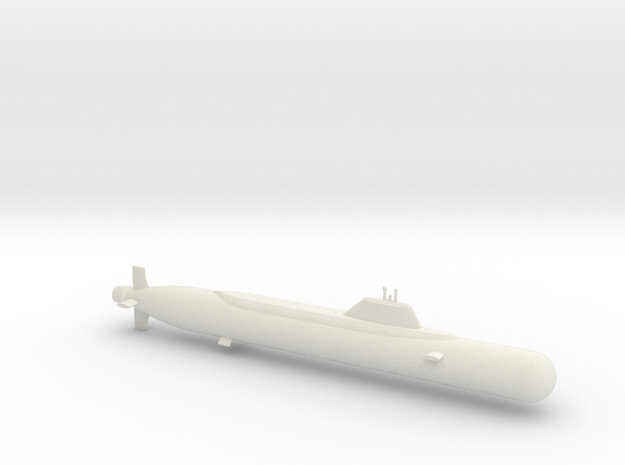 1/700 Yasen Class Submarine in White Natural Versatile Plastic