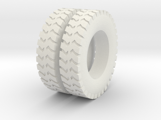 1:64 scale ground gripper tires for dayton wheels in White Strong & Flexible