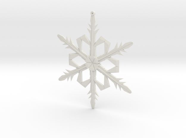 Snowflake1a in White Strong & Flexible