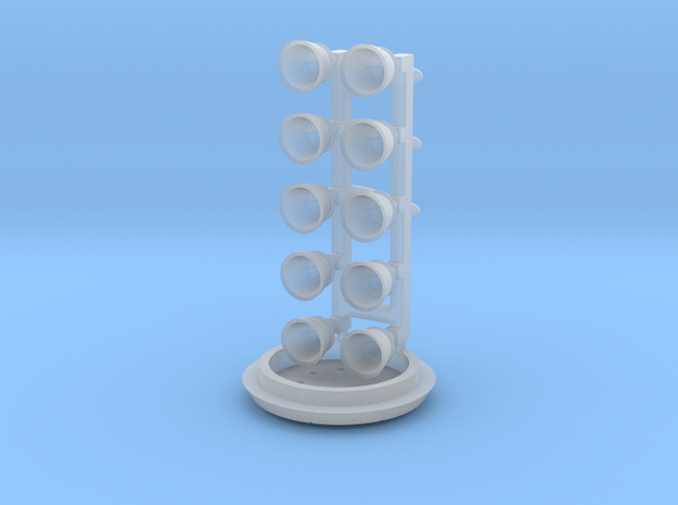 Falcon 9 v1.1 Engines and fasteners 3d printed