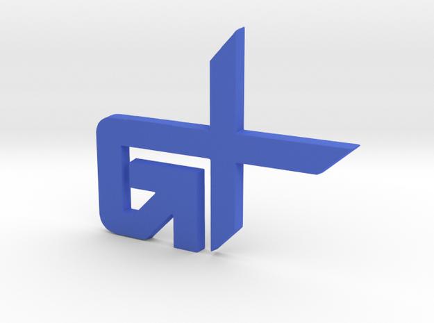 GravityXtremo Badge in Blue Processed Versatile Plastic