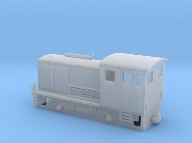 Narrow gauge H0e model diesel shunter in Smooth Fine Detail Plastic