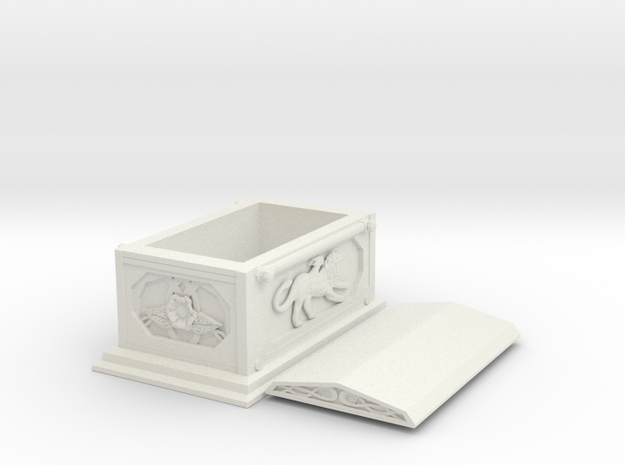 Temple - Coffin in White Natural Versatile Plastic