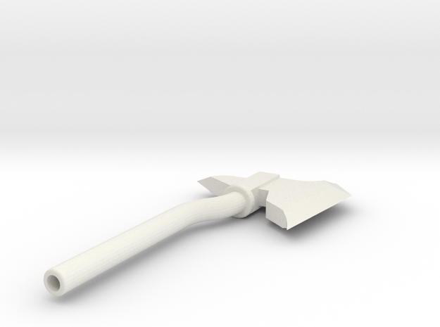 Throwing Axe in White Natural Versatile Plastic