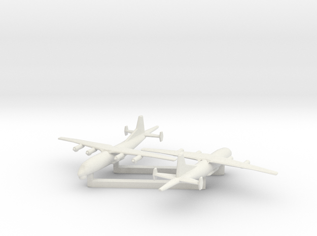 1/700 Shaanxi Y8 600 ASW in White Natural Versatile Plastic