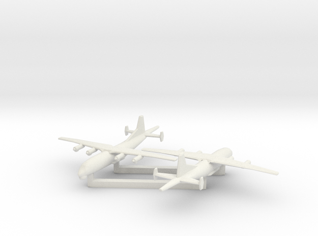 1/600 Shaanxi Y8 600 ASW in White Natural Versatile Plastic
