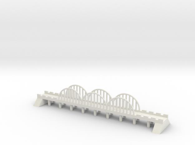 1/700 Steel Road Bridge in White Natural Versatile Plastic