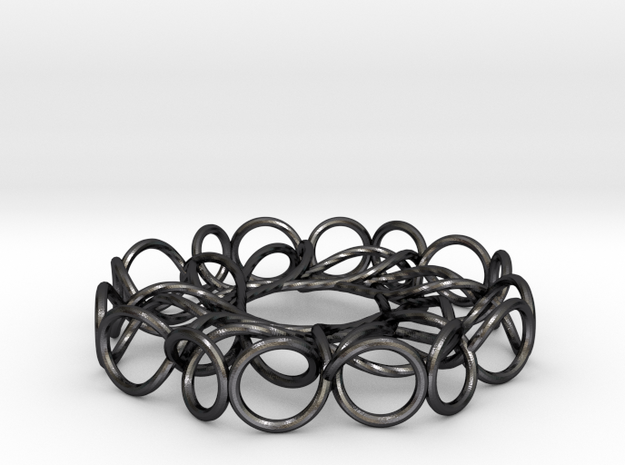 Torus Knot Pendant in Polished and Bronzed Black Steel