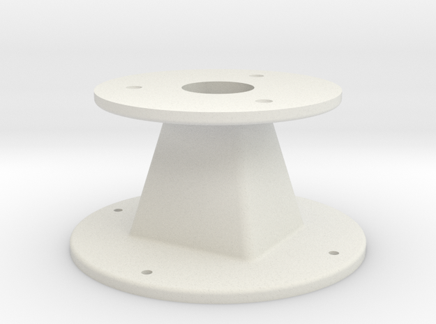 Throat adapter — custom job in White Natural Versatile Plastic