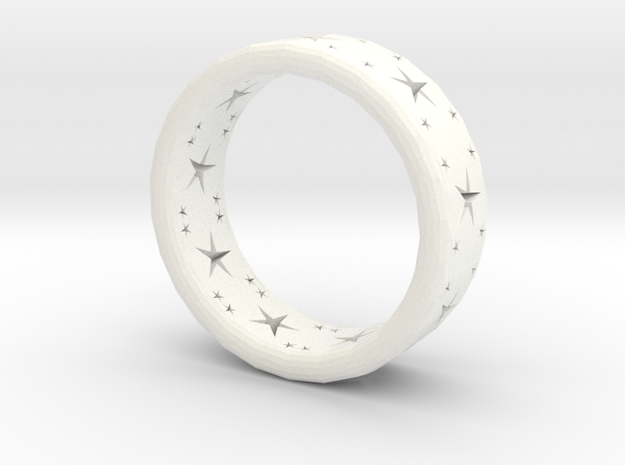 ring stars in White Strong & Flexible Polished