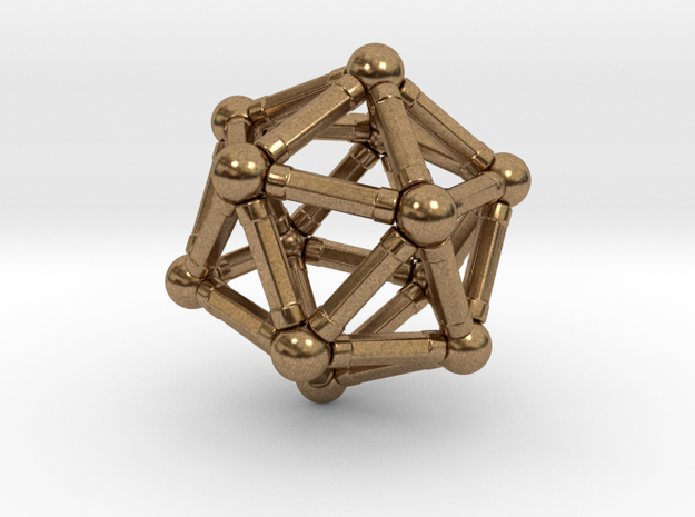 Icosahedron Magnetix in Natural Brass