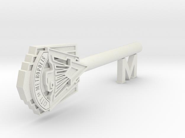 Smallville Metropolis key to the city full size in White Natural Versatile Plastic