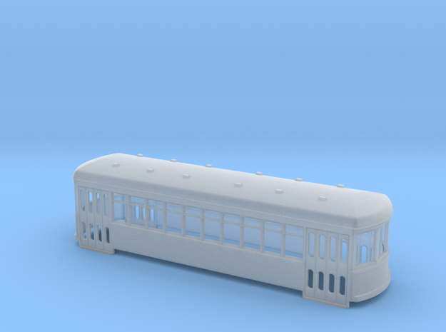 N scale short trolley - city car 10 window in Frosted Ultra Detail