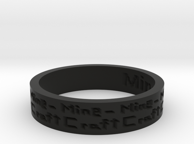 by kelecrea, engraved: Minecraft 3d printed
