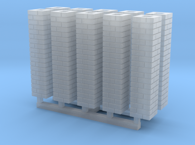 Single Brick Pier HO X 10 in Smooth Fine Detail Plastic