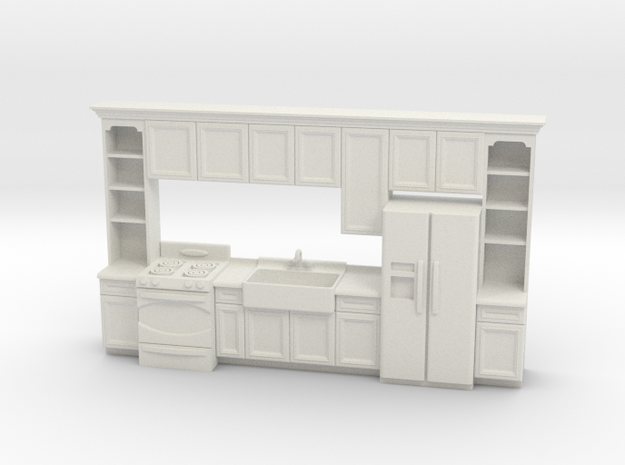 1:48 Farmhouse Kitchen F in White Strong & Flexible
