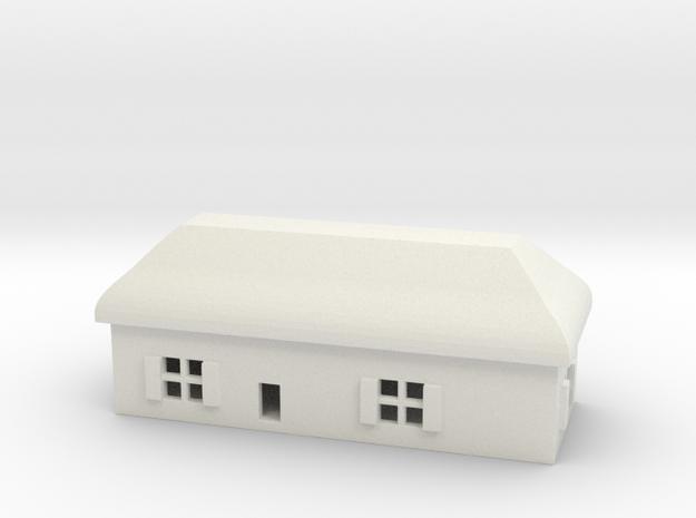 1/700 Villiage House 4 in White Natural Versatile Plastic