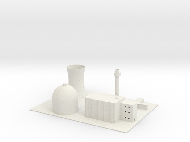 1/700 Yong-Byon Nuclear Reactor in White Natural Versatile Plastic