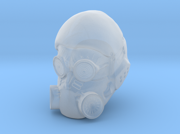 1/18 Scale Masked Head 03 3d printed
