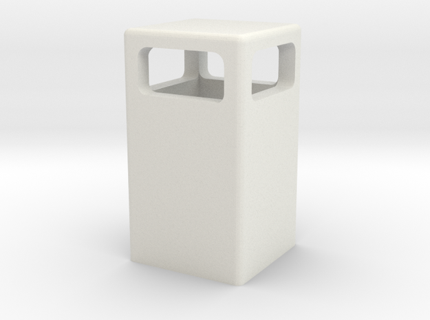Mülleimer / dustbin (1/87) in White Natural Versatile Plastic