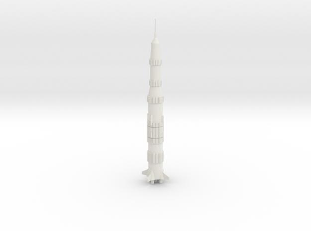1/700 Saturn V Rocket in White Natural Versatile Plastic