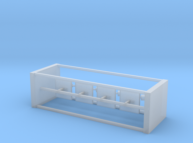 4 N Scale European Switch Counterweights in Smooth Fine Detail Plastic