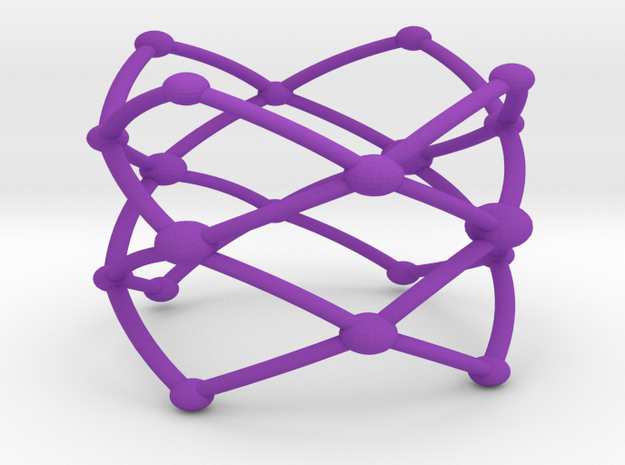Stacked Frustrated Chains ring larger 3d printed